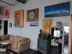 living room art in an toronto art therapist home (Toronto Arts Girl) Tags: toronto artist painter arttherapist expressiveartstherapist