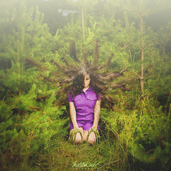 Back to roots (Millita) Tags: trees portrait girl forest self canon hair alone skin roots bulgaria 1855 rooted 450d