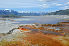 Mammoth Hot Springs (bhophotos) Tags: travel usa nature colors landscape geotagged spring nikon yellowstonenationalpark yellowstone wyoming geyser hotspring thermal ynp mammothhotspring d700 2470mmf28g