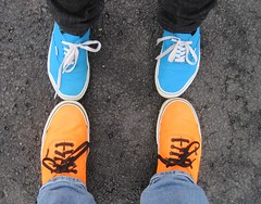VANS (TaraNay) Tags: park blue girls orange baby feet photography big shoes neon bright board emo sneakers size tennis trends teen skatepark converse skate skateboard teenager vans skater 13 thirteen teenage