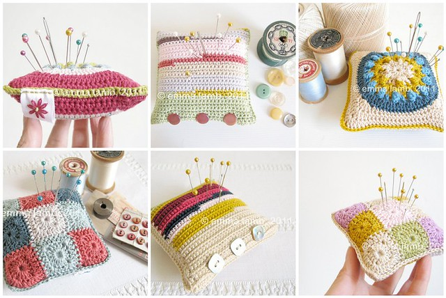 tiny wee crochet granny cushion by Emma Lamb