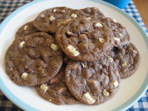 Hazelnut White Chocolate Chip Cookies