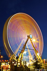 Ferris Wheel 2~ (gtsomething) Tags: longexposure carnival light canada edmonton fair alberta ferriswheel funfair klondikedays townfair capitalex gtsomething