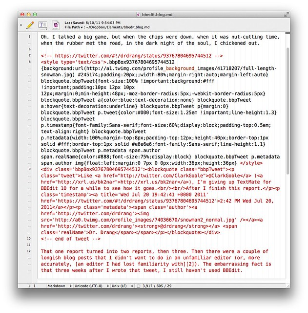 BBEdit coloring errors