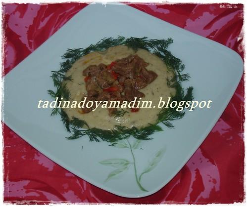 tas kebabı..mantarlı patates püresi