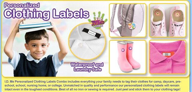 Personalized Kids Clothing Labels