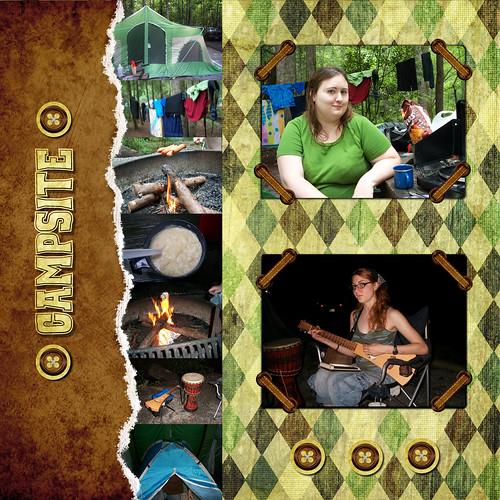 CampingScrapbook- Campsite