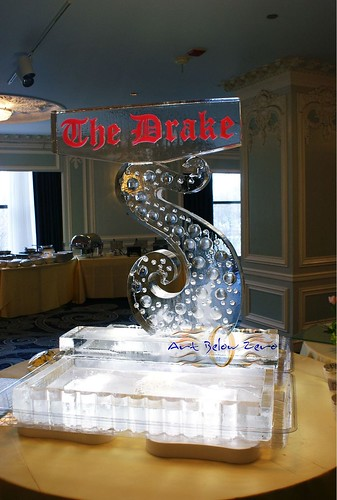 The Drake Dessert Display Ice Sculpture
