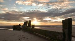 Sunset over my Groyne (Aran Smithson) Tags: sunset beach clouds sand groyne blackpool flickraward