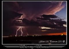 Stormy Sunset_6 (gmp1993) Tags: sunset sky storm oklahoma rain weather clouds colorful pretty glenn patterson thunderstorm lightning thunder altus