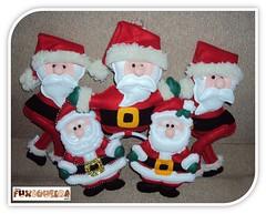Encomendas j para o Natal! (mfuxiqueira) Tags: cortina natal de pano felt noel porta feltro prato papai enfeite prendedor christimas encomendas