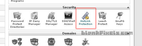 Hotlink Protection on your hosting's cPanel - blankpixels.com