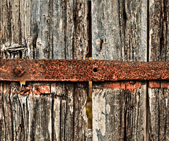 Hinge II (PeterJ) Tags: door hinge wood france texture french rust decay urbandecay crusty ileder rustyandcrusty 2011 charentesmaritime poitoucharentes rustcolor epl1 frompeterj