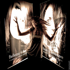 concept of beauty (||GiAnLuCa||) Tags: light girl beauty hair advertising women madness moved bella concept mad conceptual bellezza pubblicit mosso pazza concetto anticonformista