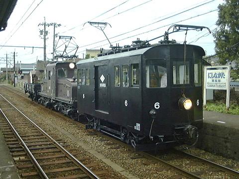 えちぜん鉄道勝山駅にテキ6の展示施設