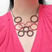 Macrame Hoop Bib Necklace - Chocolate