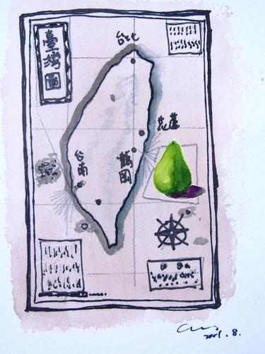 台灣仿古圖_加上文旦