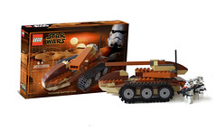 Tatooine Raptor Tank (Omar + kamitera) Tags: legostarwars tatooine moc starwarslego tattoine customlego raptortank tatooineraptortank omarovalle