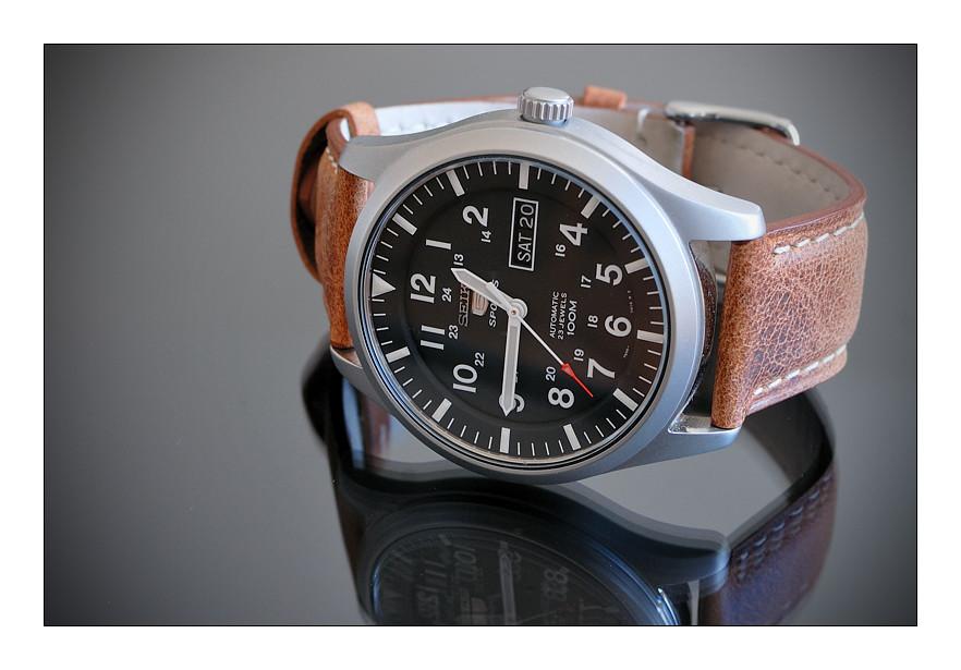 4536bce9f1c Seiko 5 Military SNZG15K1 (Alex BE) Tags  leather 5 military automatic  bracelet strap seiko