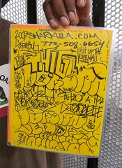 Thig flier (fotoflow / Oscar Arriola) Tags: usa chicago america de graffiti design us illinois flyer midwest hand drawing brian tag united il mc american hiphop states hip hop morgan drawn rapper sharkula thig kym fym flier tbc voicemail nsh thigamajiggeee