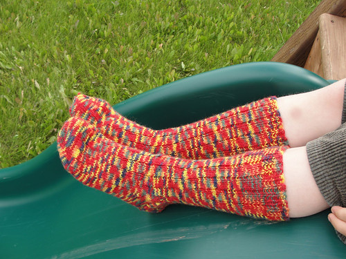 Crazy coloured ribbed socks