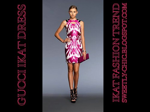 Ikat fashion trend_Gucci Ikat dress by Sweetlynat