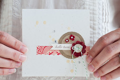 hello, there ({traveling} mama) Tags: hello card button twine embellish octoberafternoon papertreyink