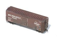 MILW RIBSIDE BOX 39581 HO MODEL (RIB SIDE MODELS) (nordique72) Tags: models trains weathered boxcar ho railroads hoscale milw kadee milwaukeeroad ribside ribsidecars