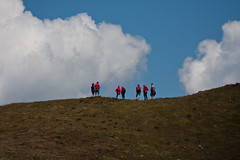 People on the Meretschi alp Photo