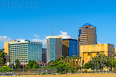 Tucson Skyline (Jim Purcell) Tags: summer arizona usa sunlight detail skyline digital mediumformat downtown afternoon pentax tucson tripod citylife az multipleexposure photograph daytime summertime hdr highdynamicrange goldenhour urbanlandscape lightroom adjust photomatix photomechanic tonemapping denoise pimacounty tucsonphotographer remask pentax645d smcpentaxa64545mm28