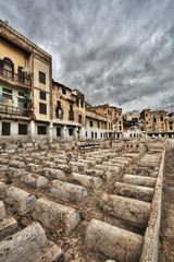 Old Jewish Cemetery (Bionda.romberg) Tags: travel canon tour walk graves morocco area jewish around hdr marokko reizen photomatix oldjewishcemetery tonemapped tonemapping 400d rondreizen