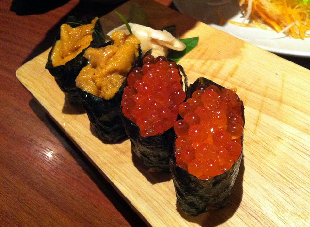 Uni and Ikura Sushi