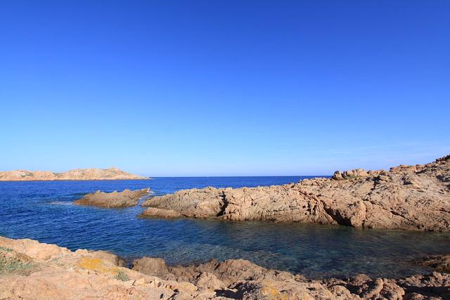 Rocky coastline near Isola Rossa