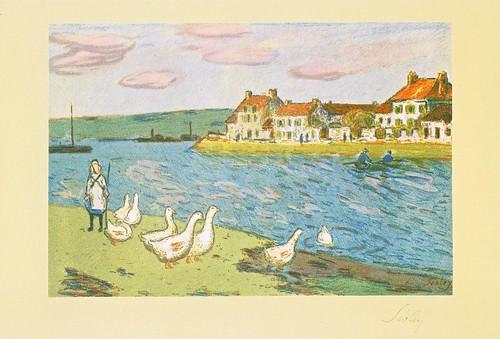 ★ポストカード④シスレー「川岸」1897年 by Poran111