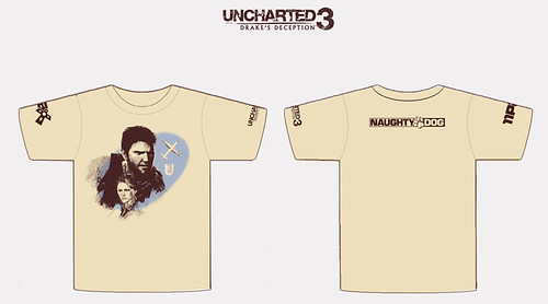 UNCHARTED 3 PAX 2011 t-shirt