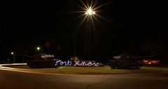 Ft Knox (MikeyD!) Tags: night army lights kentucky lighttrails base lightgraffiti tanks lightwriting ftknox sooc