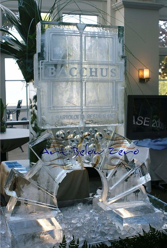 Bacchus Luge ice sculpture