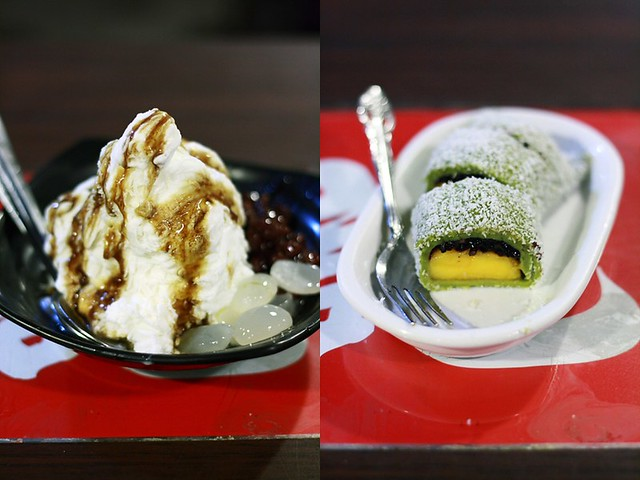 Cendol Ice and Mango Black Sticky Rice Roll