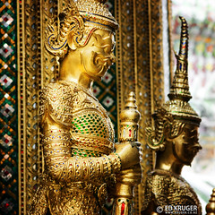 Wat Phra Kaew (Ed Kruger) Tags: blue yellow thailand temple gold asia southeastasia asians bangkok decoration budha watphrakaew allrightsreserved admiralty ubosoth peopleofasia   asiancities earthasia edkruger asiancountries cultureofasia photosofasia rodkruger