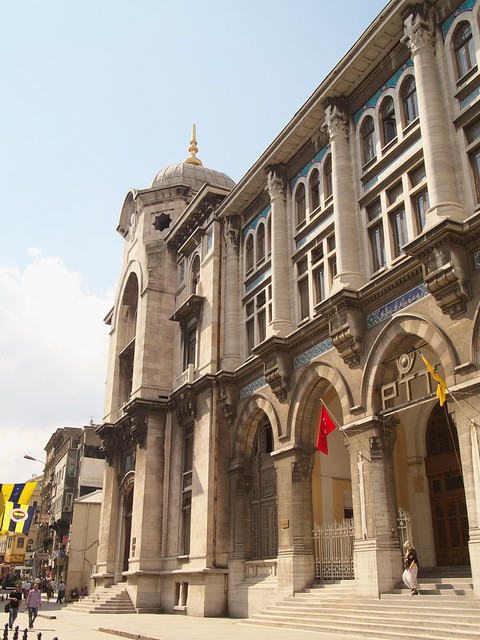 建築物古色古香的土耳其郵局