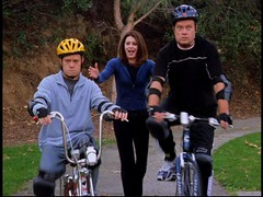 Frasier and Niles ride a bike