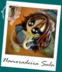 Namoradeira Sula (Artes di Viviane Garcia) Tags: doll bonecas dolls biscuit boneca decoração enfeite cabaça namoradeira elo7 vivianegarcia mandaladolls