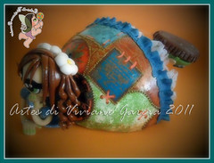 Namoradeira Sula (Artes di Viviane Garcia) Tags: doll bonecas dolls biscuit boneca decorao enfeite cabaa namoradeira elo7 vivianegarcia mandaladolls