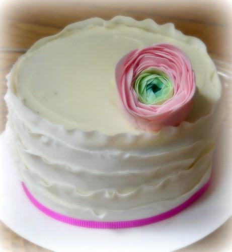 Ranunculus Ruffle Cake by Sugar Daze (f/k/a LittleMissCupcakeParis)
