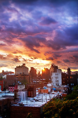 'Dissipate', United States, New York, New York City, West Village Rooftop, Sunset After Hurricane (WanderingtheWorld (www.LostManProject.com)) Tags: new york city nyc newyorkcity travel blue chris sky urban orange cloud sun ny storm news west apple tom clouds point photography dawn evening photo blog big interesting colorful flickr village rooftops manhattan hurricane dramatic after irene through hdr cbs vantage peaking dissipate pelley schoenbohm lostmanproject