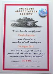 Sou oficialmente uma cloudspotter ( Reino J Cheguei ) Tags: sky diploma natureza cu nuvem certificado observar thecloudappreciationsociety reinojcheguei