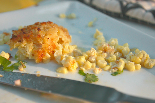 sunny scalloped corn