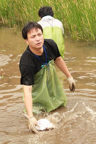 馮永鋒於陽明山二子坪參加台灣環境資訊協會舉辦的活動.