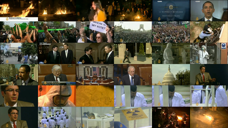 Obama in Al Jazeera broadcast (montage 6x6 cropped)
