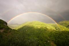 Summer's rainbow at Antrodoco (Italy)
